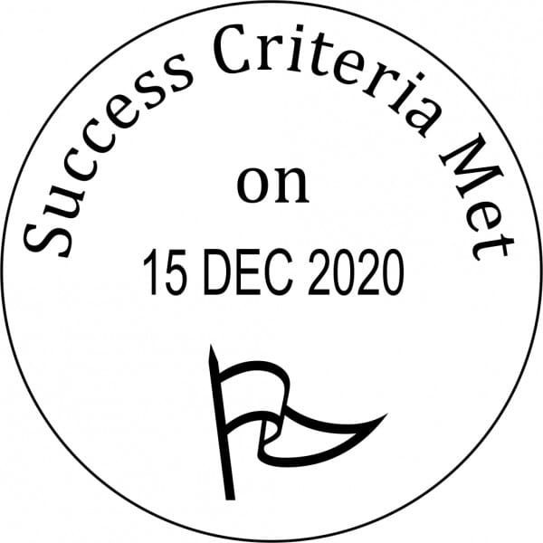 Teacher Marking Stamp – Success Criteria Met With Date