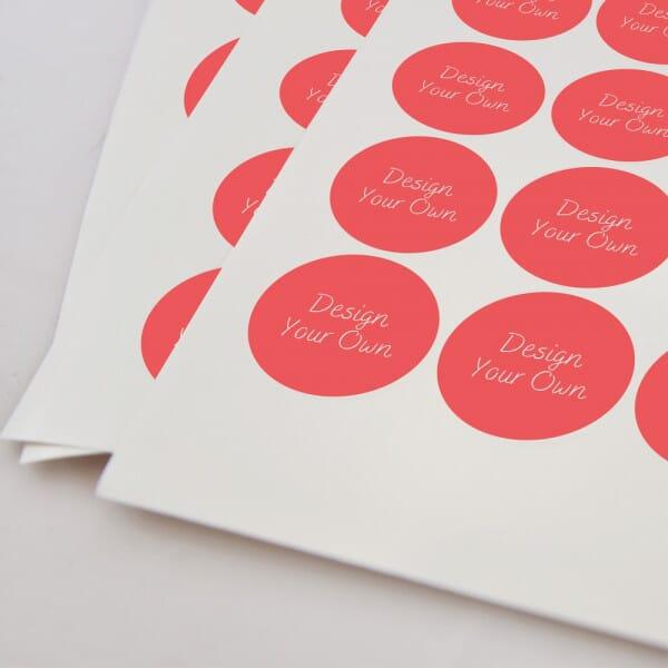 Round Vinyl Customised Stickers – Printed 35mm Dia