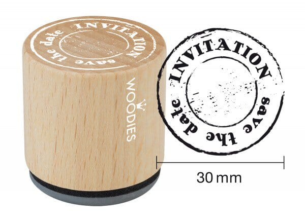 Woodies stamp INVITATION save the date