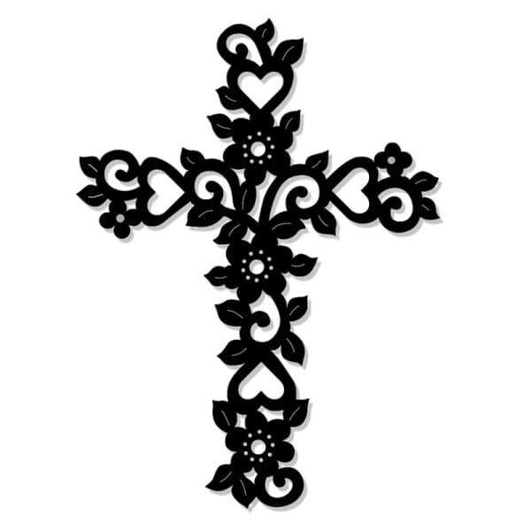 Sue Dix Designs - Filigree Floral Cross Sweet Dixie Die Summer Collection