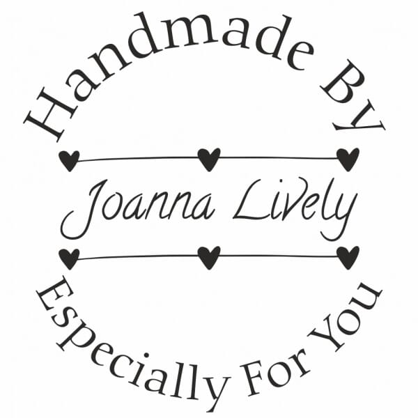 Personalised Round Handmade By Stamp – Especially For You Design