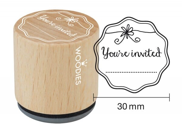 Woodies stamp You're invited