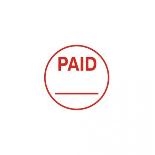 Trodat Circular Word Stamp - Paid