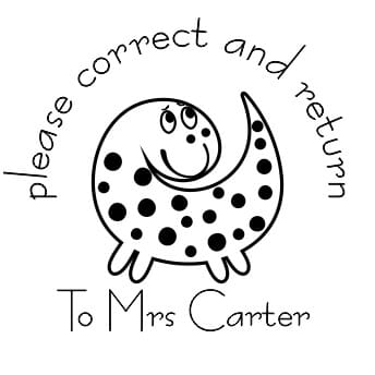 Personalised Teacher Stamp - Please Correct And Return