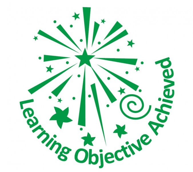 Trodat Printy 4933 - Learning objective achieved - green
