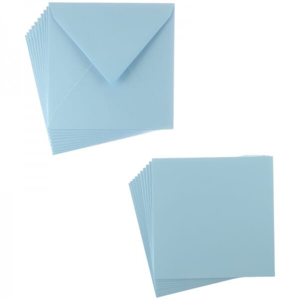 Sweet Dixie Blue Square Card and Envelope Packs (10)
