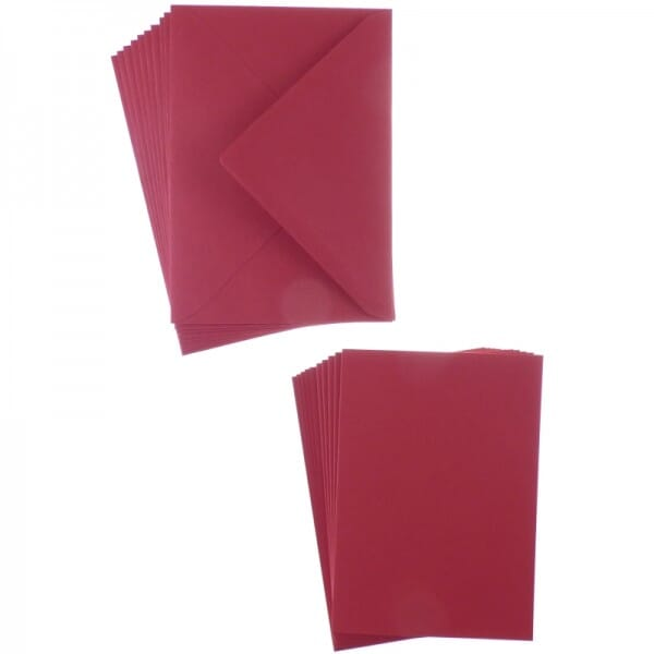 Sweet Dixie Christmas Red A6 Card and Envelope Packs (10)