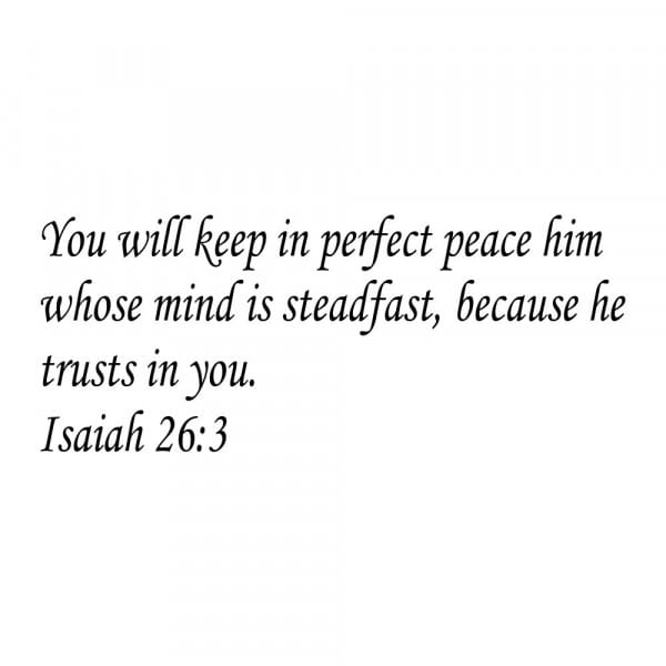 Craft Stamp - Isaiah 26:3