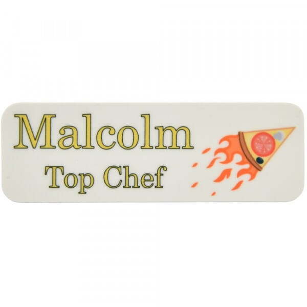 Printed Name Badge - Rectangle 75x32mm