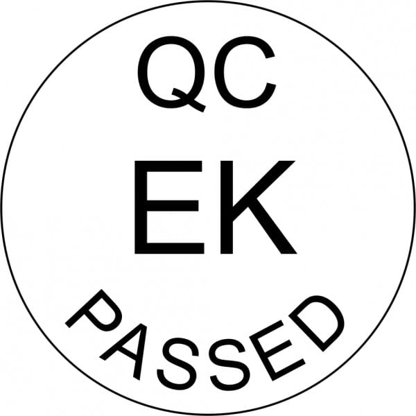Customised Quality Control Inspection Initials Stamp - Passed