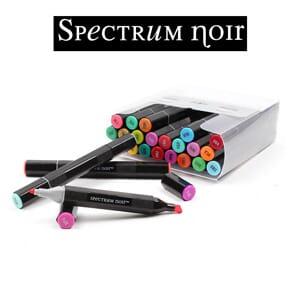 Sparkle Glitter Alcohol Marker Pen Set Spectrum Noir Metallics 3pk