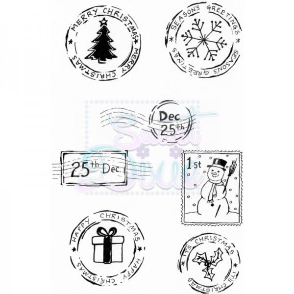 Lindsay Mason Designs - Festive Post Clear Stamp A6