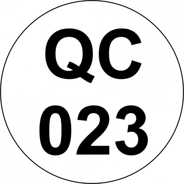 Customised Quality Control Inspection Stamp - Number Circle