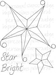 Lindsay Mason Designs - Zendoodle Star Bright A6 Clear Stamp