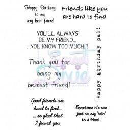 Lindsay Mason Designs - Good friends are Clear Stamp size A6