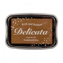 Tsukineko - Delicata Ink Pad Metallic Gold