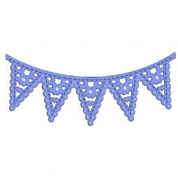 Sue Dix Designs - Floral Bunting Everyday Metal Dies
