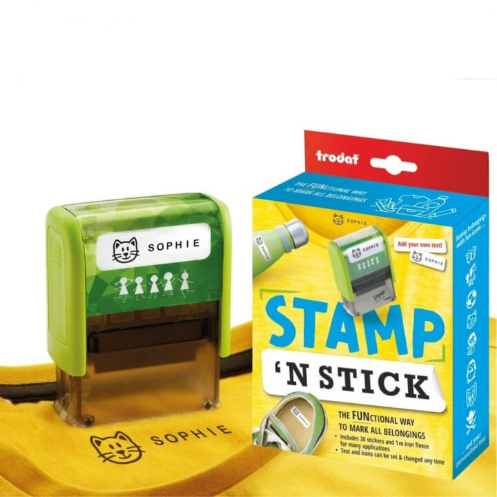 Avoid Mixups and Lost Items By Marking Uniforms and Belongings With Trodat's Stamp 'N Stick