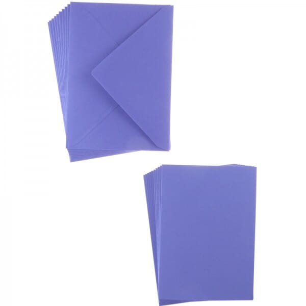 Sweet Dixie Purple A6 Card and Envelope Packs (10)