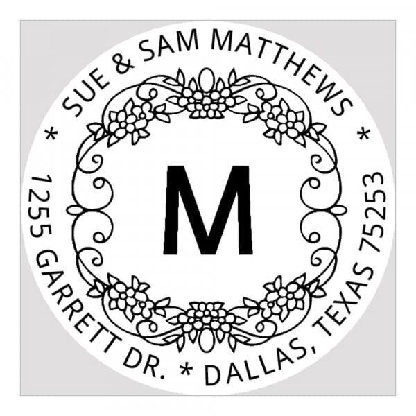 Monogram seal round - No  5