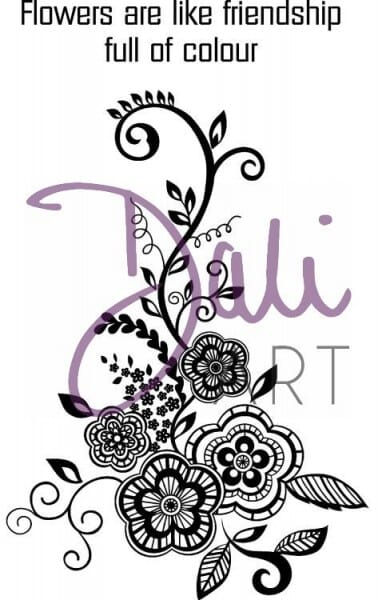 DaliArt - DaliART Clear Stamp Henna Friendship Flower