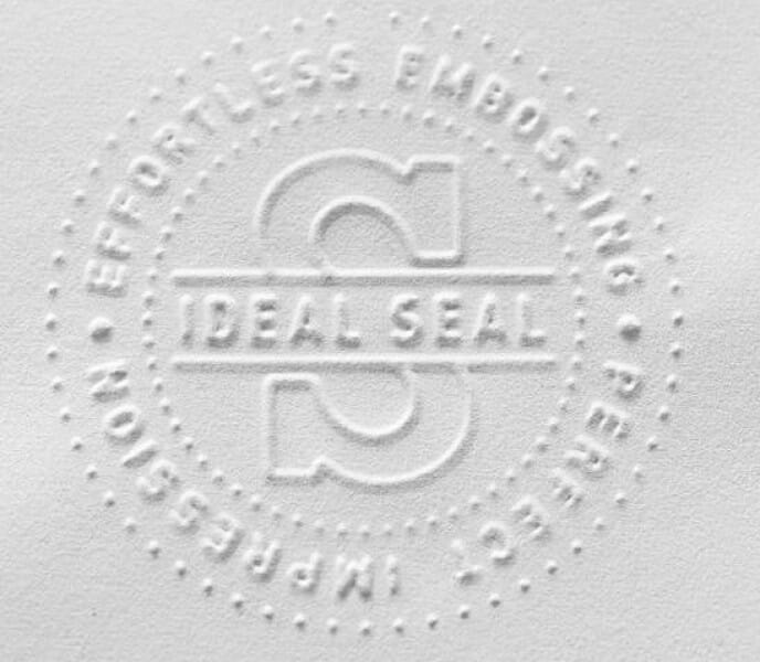 Die and Insert for Trodat Ideal Seal Embossing Press - 51mm round