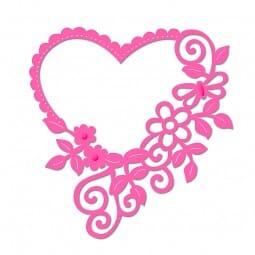 Sweet Dixie Floral Heart Frame Die by Sue Dix