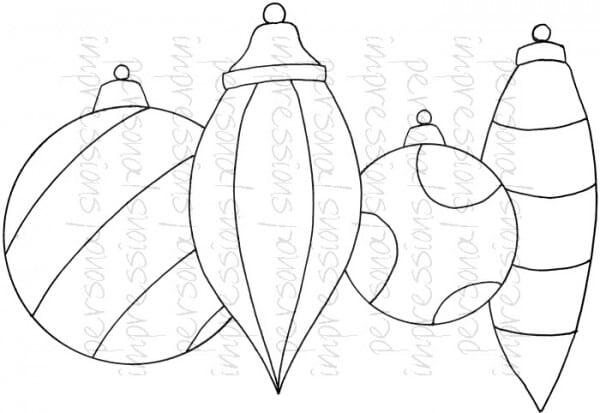 Lindsay Mason Designs - Zendoodle Baubles A6 Clear Stamp