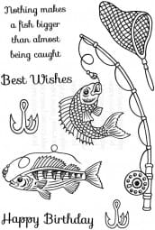 Art Stamps - SDNothing Makes a Fish Bigger - Clear Stamp
