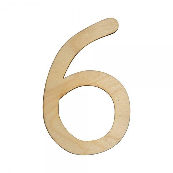 Craft Shapes - Number 6
