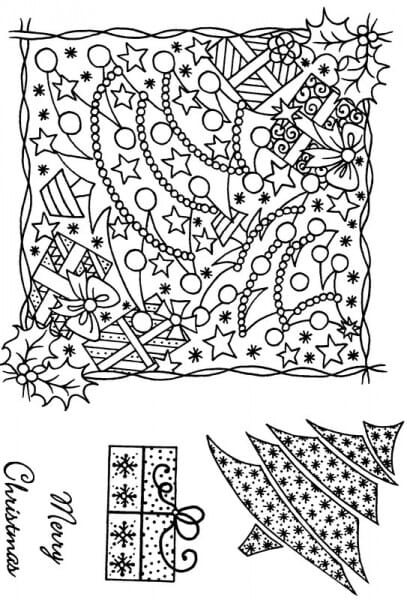 Sue Dix - Parcel and Tree Montage Clear Stamp