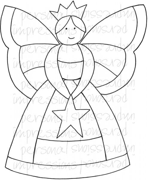 Lindsay Mason Designs - Zendoodle Fairy A6 Clear Stamp