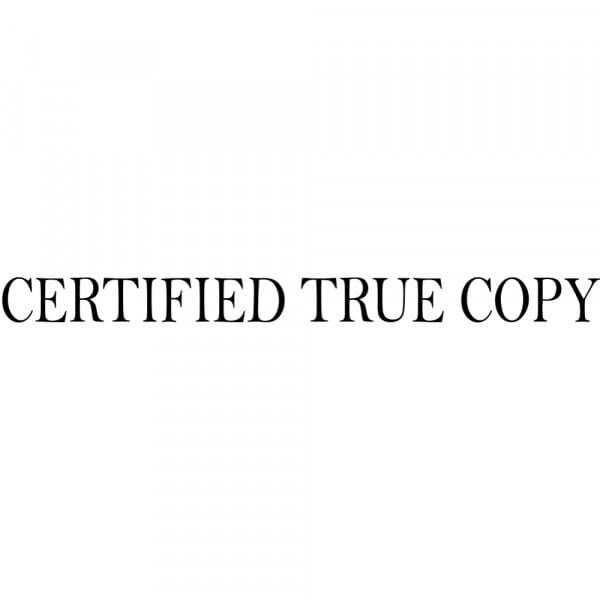 True Copy Certification Stamp