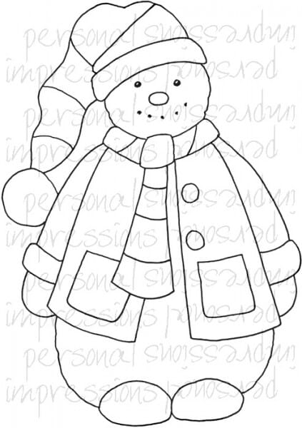 Lindsay Mason Designs - Zendoodle Snowman A6 Clear Stamp