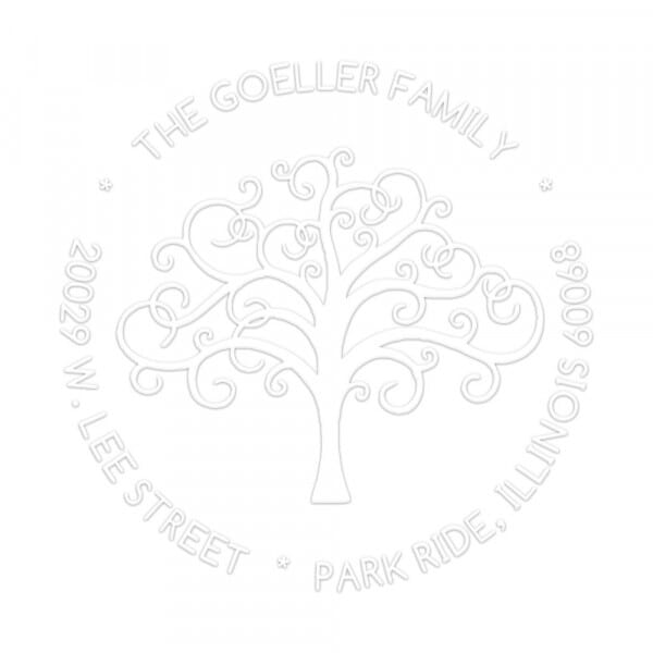 Family Tree Round Monogram Seal