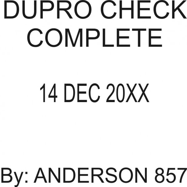 Customised Quality Control Inspection Date Stamp - DUPRO