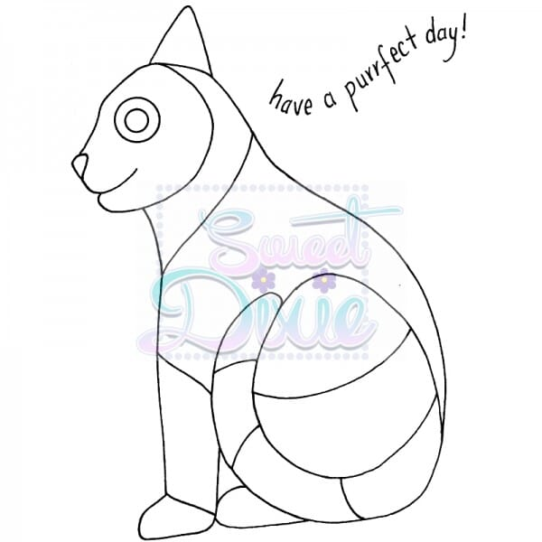 Lindsay Mason Designs - Zendoodle Cat Clear Stamp size A6