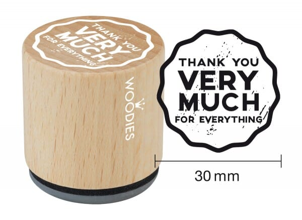 Woodies stamp Thank you very much for everything