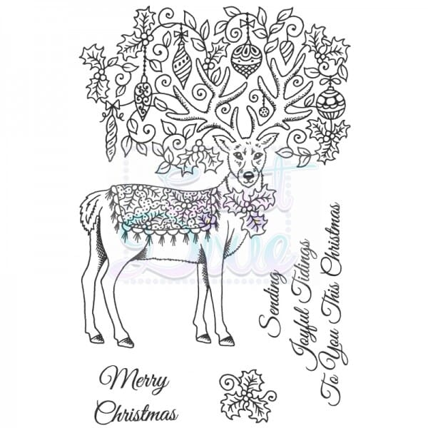 Sue Dix Designs - Fancy Reindeer Clear Stamp A6