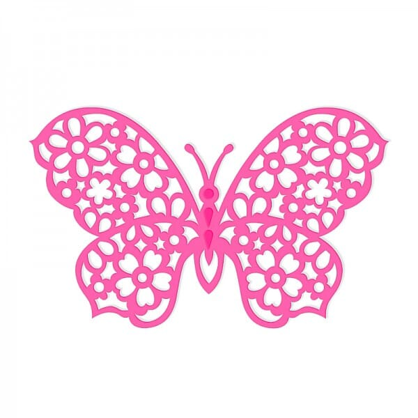 Sweet Dixie Floral Butterfly Die by Sue Dix