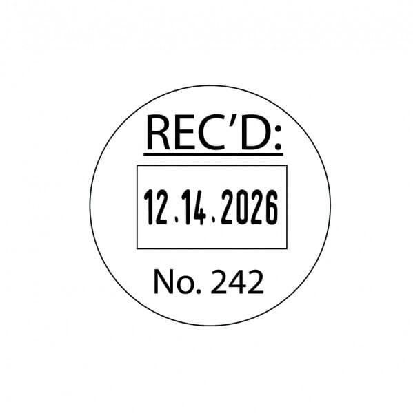 Trodat Printy Dater 46119 19 mm diam. - 1+1 line