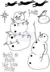 Lindsay Mason Designs - Flying Snowmen Clear Stamp