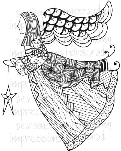 Lindsay Mason Designs - Zendoodle Angel Ready To Go A6 Clear Stamp
