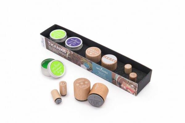 Woodies Kit THANKS 2 stamps Woodies, 2 stamps Mini-Woodies, 2 inkpads