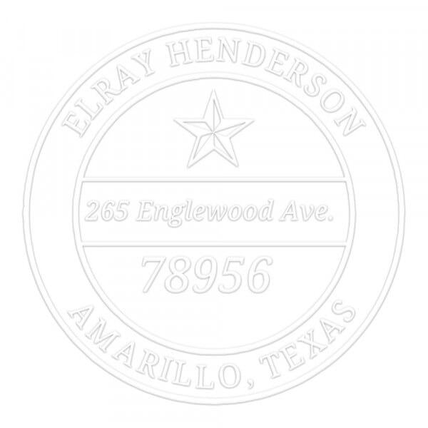 Lone Star Round Monogram Seal