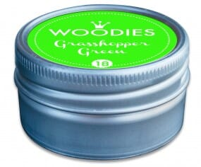 Woodies stamp pad Grasshopper Green NEON