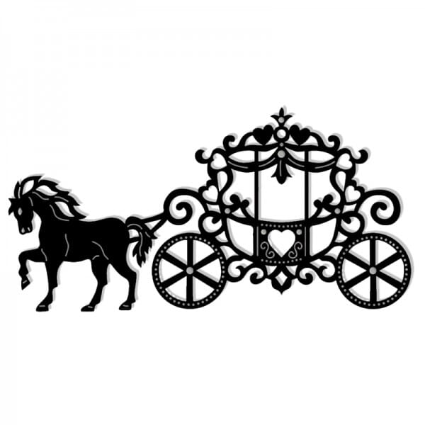 Sue Dix Designs - Fairy Tale Coach and Horse Sweet Dixie Die Summer Collection