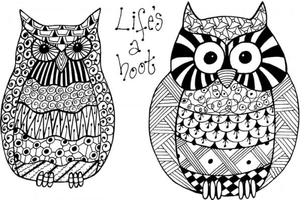Lindsay Mason Designs - Zendoodles Owls Lifes a Hoot Ready To Go Clear Stamp