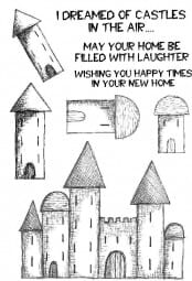 Lindsay Mason Designs - Clear Stamp - I dreamed of castles
