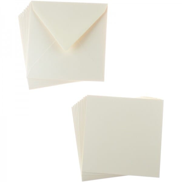 Sweet Dixie Natural Square Card and Envelope Packs (10)